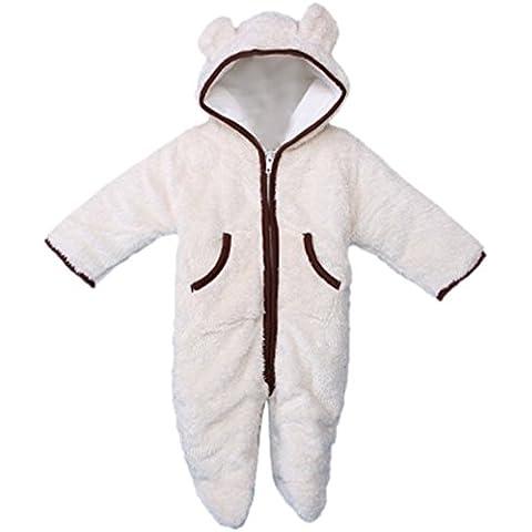 MIKIKIDS Pijama gruesa durable cálido pelele mono disfraz con capucha para bebé niño niña babies