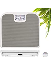 Relaxdays Peso Analógico Baño hasta 130 kg, ...