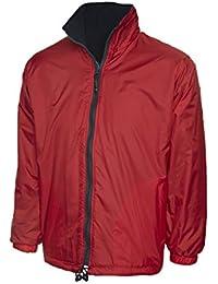 Uneek clothing Premium Reversible Chaqueta de Forro Polar Abrigo Impermeable Ocio al Aire Libre de Trabajo