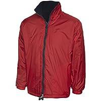 2f5537493b Uneek Premium Reversible Fleece Jacket Mens Rainproof & Windproof Coat - 4  Colours Available
