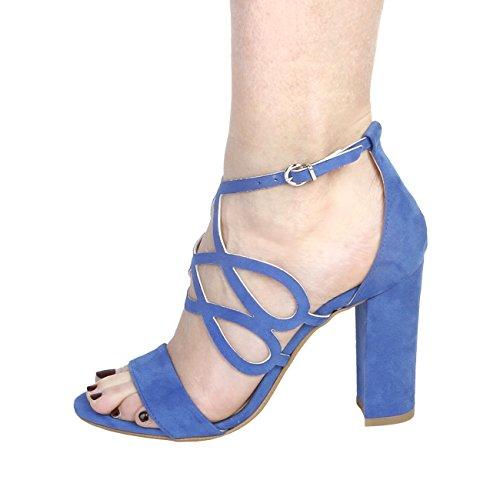 Made In Italia - CARINA Sandali Donna Tacco 10 cm Blu