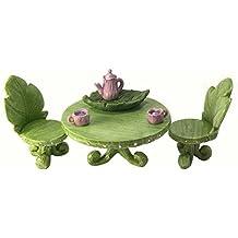 Set di mobili in miniatura per giardino incantato: set bistro