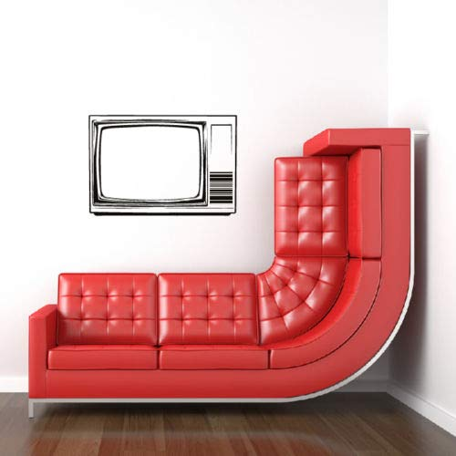Vintage Style Television Wall Stickers Art Wall Sticker High Quality Wallpaper DIY Self-adhesive Wall Decal Design Mural S 55X80cm