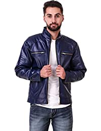 3f6525340 Girls Shopping Full Sleeve Solid Leather Jacket for Men's|Casual Jacket|with  Zipper