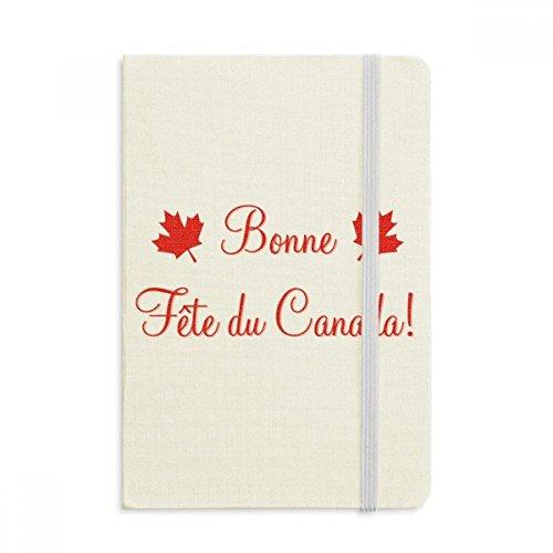DIYthinker Maple Leaf Happy Canada Day 4. Juli Notebook Stoff Hard Cover Klassisches Journal Tagebuch A5 A5 (144 X 210mm) Mehrfarbig