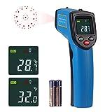 CAMWAY Digital Laser Infrarot Thermometer, '-58℉~ 752℉(-50℃ ~ 400℃), Temperaturpistole Temperaturmesser mit LCD Beleuchtung, für Luft Kühlschrank Kochen