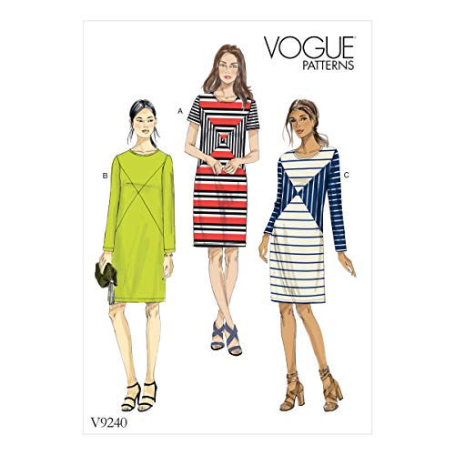 Vogue Patterns Jersey Robes, Multicolore, Tailles 14-22