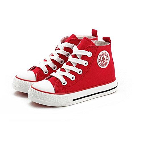 Sabe Kinder Mädchen Jungen Reißverschluss High Top Segeltuchschuhe für Unisex Baby Turnschuhe Denim Laufen Kinder Sneaker - Mädchen Baby Größe High-tops Schuhe 3