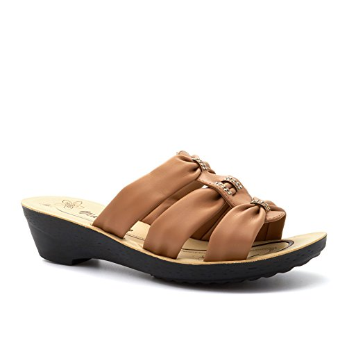 London Footwear ,  Damen hinten offen Taupe