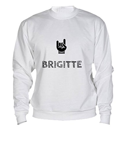 Felpa Brigitte - Print Your Name White