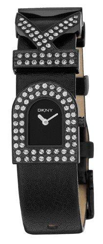 DKNY NY3914 - Reloj analógico de cuarzo para hombre con correa de piel, color negro