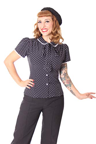 luppenbluse Bluse Syril Polka Dots, Größe:XL, Farbe:Schwarz ()