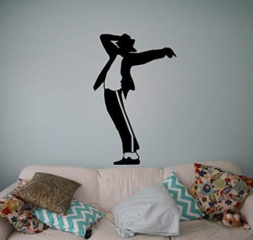 Gut aussehend Michael Jackson Aufkleber Muster Wandaufkleber Kunst Design Wohnkultur Vinyl Wandbild The King of Pop Cool Kinderzimmer W57 * 57 cm