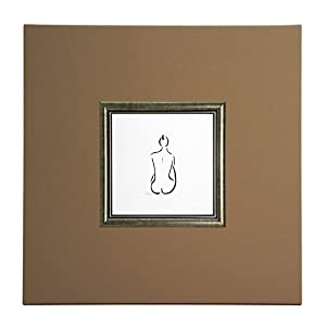 "ERGO-PAUL ErgoPaul Mini Papier (Poster) ""Nu De DOS, Holz und Beige Eco-Leder, ohne Glas, 40x40x1.5 cm Kunstdruck mit Rahmen, Öko, One Size"