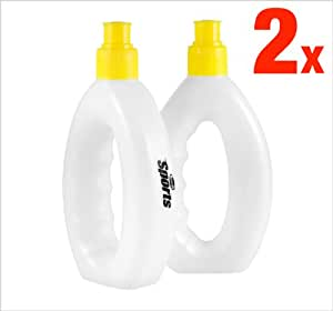 2 x Runners Fist Grip Water Bottle - 250ml