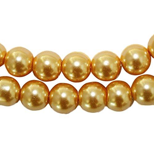 terial Perlen Schmuck Zubehör groß-Nachahmung Perlen Glas Perlen, gold ()