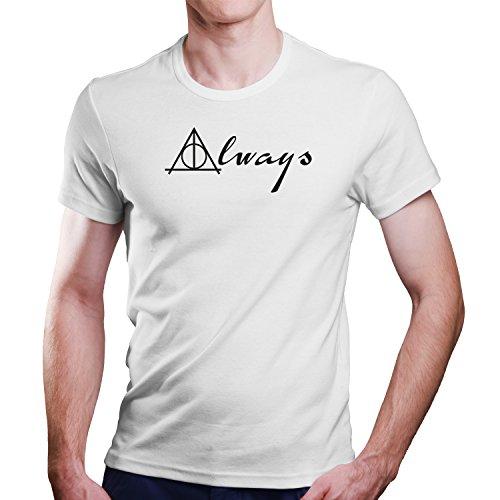 Harry Potter Serverus Snape Zitat Always T-Shirt Größe XS-4XL Ideales Geschenk (M, Weiß)