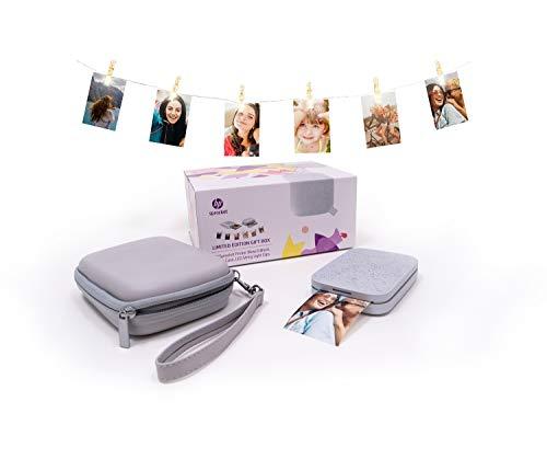 HP Sprocket Limited Edition Gift Box (HP Sprocket New Edition Fotodrucker + Etui + Lichterkette mit LED-Clips), weiß