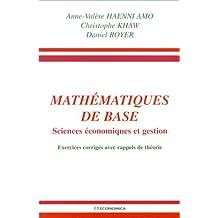 Mathématiques de base - Sciences économiques et gestion