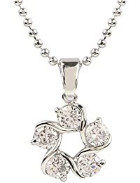 Ananth Jewels Heart Shaped Rose Gold Plated Pendant Necklace For Women - B073TKHB19