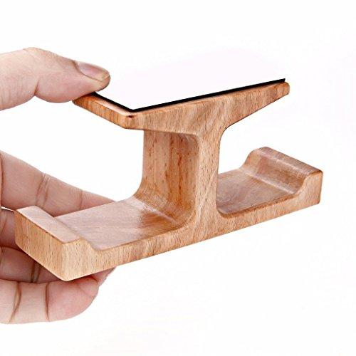 pomcat Holz Dual Halterung Kopfhörer Ständer Klebehaken unter Desk Hanger Home Office (B) (Kopfhörer-haken-ständer)