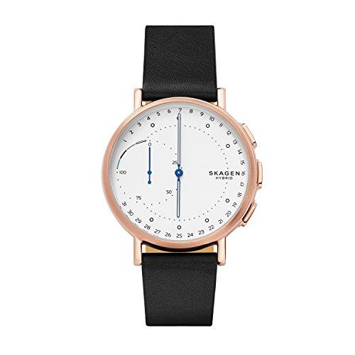 Skagen Herren Analog Quarz Smart Watch Armbanduhr mit Leder Armband SKT1112
