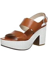 C. Doux NA 6407 - Sandalias de vestir de cuero para mujer