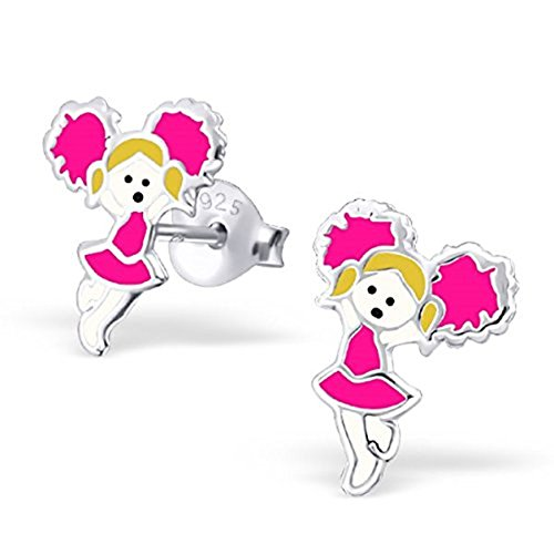 pair-of-small-sterling-silver-pink-cheerleader-girl-earrings-with-gift-box