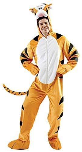 wachsene Herren Damen Tigger Tiger Winnie Puuh Overall Maskottchen Kostüm Kleid Outfit STD & XL - Orange, Orange, X-Large (Disney Charakter-outfit)