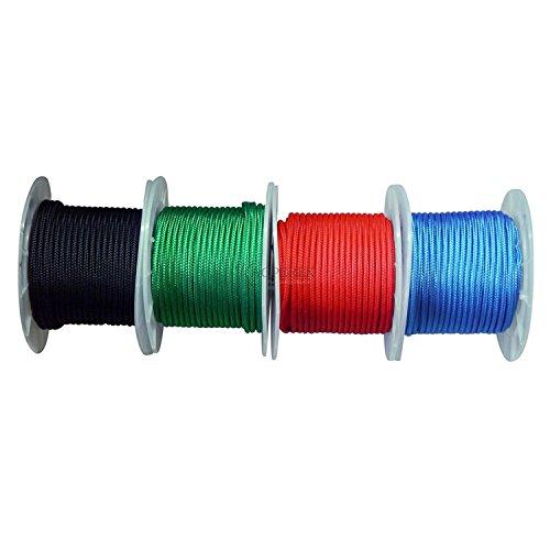 Polypropylenseil 10m/8mm 800kg Polypropylen Seil Reepschnur Leine Tau Schnur Festmacher Rope (Rot)