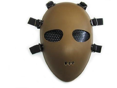 Alien Full Protection Safety Impact Resistance Face Mask Airsoft Paintbal BB Gun Khaki ,10.62 x 7.08 x