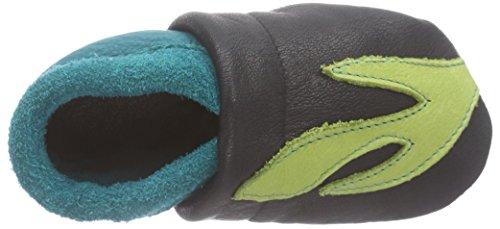 Pololo Schildkröte Emma Unisex-Kinder Flache Hausschuhe Blau (Blau/Grün)