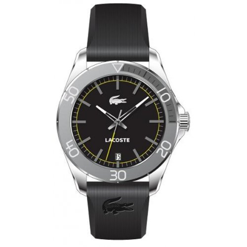 Lacoste - 2010509 - Gents Watch - Analogue Quartz - Black Leather Strap