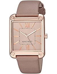 Nine West Women's NW/2116TPRG Rose Gold-Tone and Taupe Strap Watch