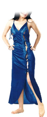 Hot \'N\' Sweet Womens Satin Nightwear Peacock -Free Size(style 15)