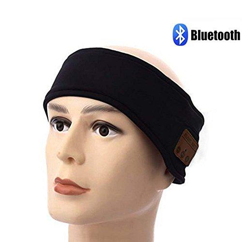 Bluetooth Kopfband, Sport-Stirnband Schweißband Wireless Kopfhörer mit Bluetooth-Stereo-Lautsprecher Mikrofon oder Laufen Joggen Skaten Wandern, Christmas gifts