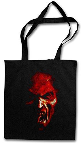 Urban Backwoods Demon Head Hipster Bag ? Pentagramm D?mon Satanismus H?lle Teufel Satan Hell Satanism Pentagram Druid Horror Pentacle Church Monster