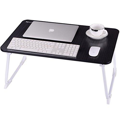 Mesa Portátil Nnewvante Plegable Mesa de Cama, 68 * 45cm escritorio de piso, bandeja infantil desayuno/Escritura, ajuste 18