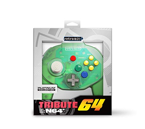Retro-Bit Tribute 64 for Nintendo 64 - Forest Green