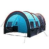 RYP Guo Outdoor Produkte Outdoor 5-8 Personen Camping Zelte, Doppelzelte Regendicht Zelte, Ein Raum Zwei Halle, Solide und Haltbare Glasfaser Stangen, Luxus Zelte,5-8 Person,A