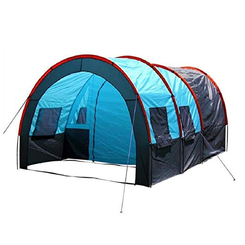 RYP Guo Outdoor Produkte Outdoor 5-8 Personen Camping Zelte, Doppelzelte Regendicht Zelte, Ein Raum Zwei Halle, Solide und Haltbare Glasfaser Stangen, Luxus Zelte,5-8 Person,A -