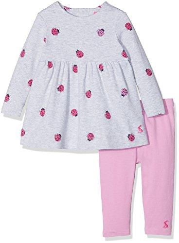 Tom Joule Joules Baby-Mädchen Bekleidungsset Christina, Grau (Grey Marl Ladybird), ()