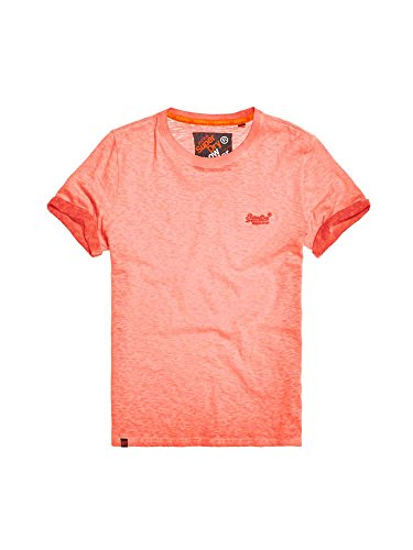 Superdry T-Shirt Men ORANGE Label Low Roller Tee Hyper Pop Orange, Größe:L