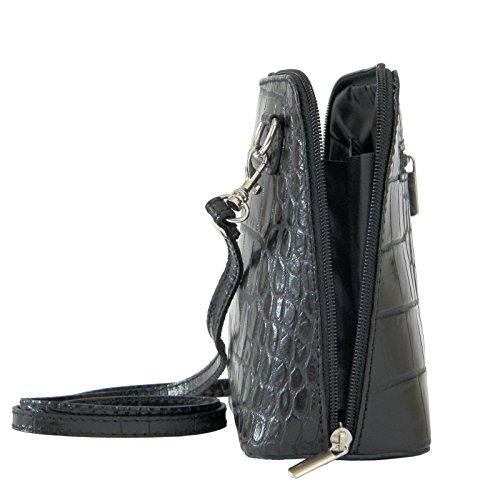 12b8c1d0dd63d ... Vera Pelle Handtaschen Italien Echt Leder Schultertasche Frauen Damen Tasche  Handtasche Ital Bag Schwarz Crock ...