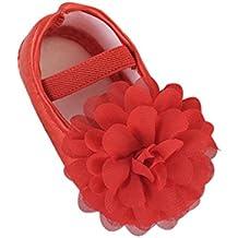 Zapatos Bebe Niña, Zolimx ��0-18 Meses Zapatos Bebe Niño Primeros Pasos Gasa de Flores de Banda Elástica Zapatos Para Caminar
