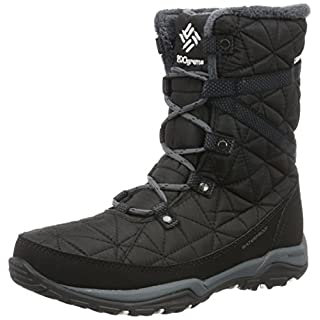 COLUMBIA Damen Casual Stiefel, Wasserdicht, LOVELAND MID OMNI-HEAT, Schwarz (Black, Sea Salt), 41
