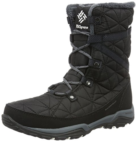 Columbia Loveland Mid Omni-Heat Waterproof, Stivali da Neve Donna, Nero (Black, Sea Salt 010Black, Sea Salt 010), 39 EU