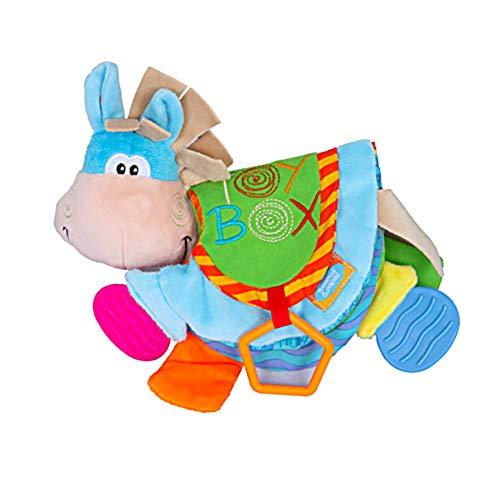 La arruga libro de juguetes del bebé lindo burro no tóxicos de la tela del paño del bebé Libros resistir el desgarro juguetes tempranos de la educación para bebés de los niños 1PC