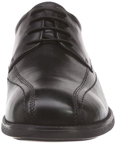 Manz Roma, Derbies à lacets homme Noir - Noir (001)