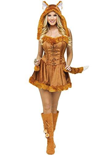 Mädchen Fuchs Kostüm (Jumpsuit Tier Fasching Halloween Kostüm Fuchs Mädchen Cosplay Damen)